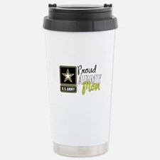 Proud Army Mom Stainless Steel Travel Mug