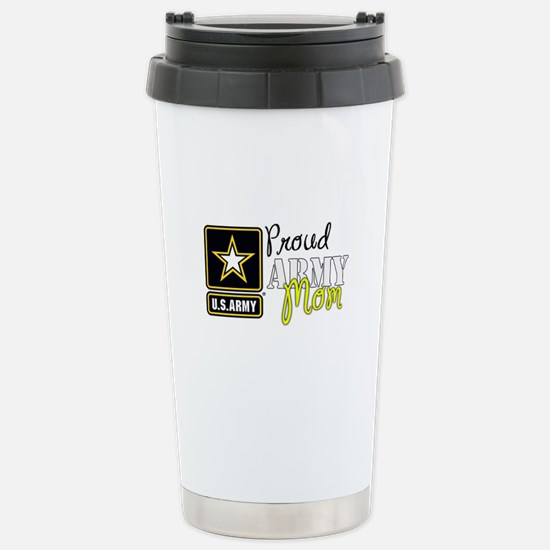 Proud Army Mom Stainless Steel Travel Mug