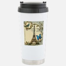 victorian blue butterfl Travel Mug