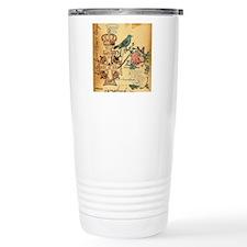 vintage floral butterfl Travel Mug