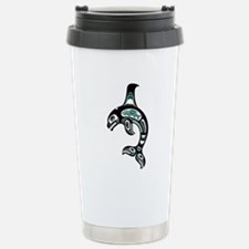 Teal Blue and Black Haida Spirit Killer Whale Stai
