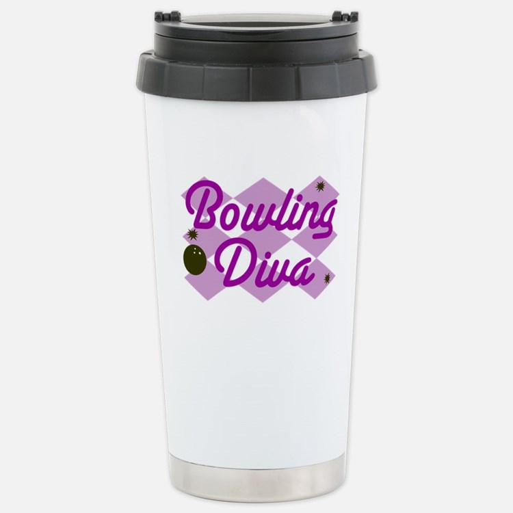 Bowling Diva Stainless Steel Travel Mug