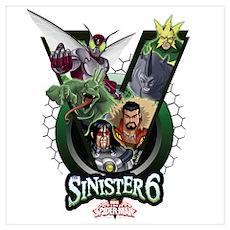 Sinister Six V Wall Art Poster