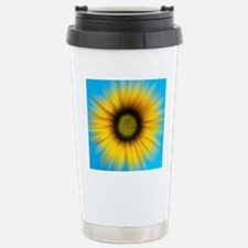Abstract Sunflower  Stainless Steel Travel Mug