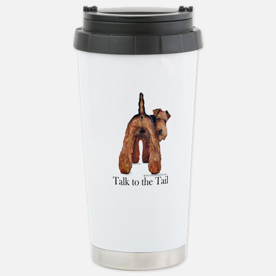 Airedale Terrier Talk Stainless Steel Travel Mug