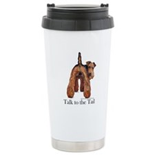 Airedale Terrier Talk Travel Mug