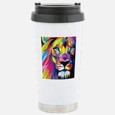 Leo the trippy lion Stainless Steel Travel Mug