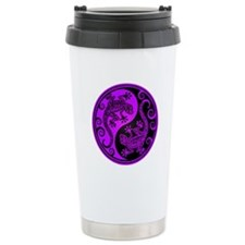 Purple and Black Yin Yang Geckos Travel Mug