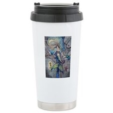 Mermaid and Seahorse Fa Travel Mug