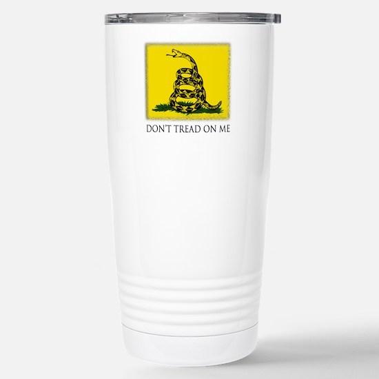 Gadsden Flag Stainless Steel Travel Mug