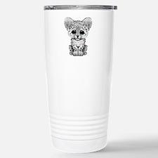 Cute Baby Snow Leopard Cub Travel Mug