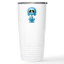 Blue Zombie Sugar Skull Puppy Travel Mug