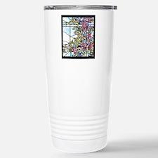 Tiffany Floral Skylight Stainless Steel Travel Mug