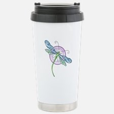 Whimsical Dragonfly Travel Mug