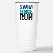 Triathlon. Swim. Bike. Run. Stainless Steel Travel