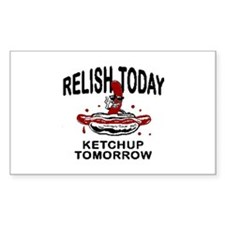 Relish Today Rectangle Stickers