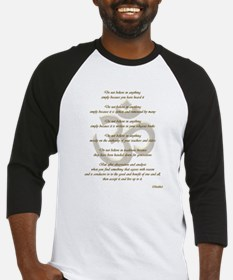 Buddha Ohm Quote Baseball Jersey