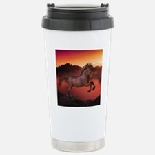 A Horse In The Sunset Stainless Steel Travel Mug