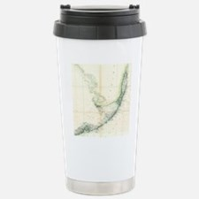 Vintage Map of The Flor Stainless Steel Travel Mug