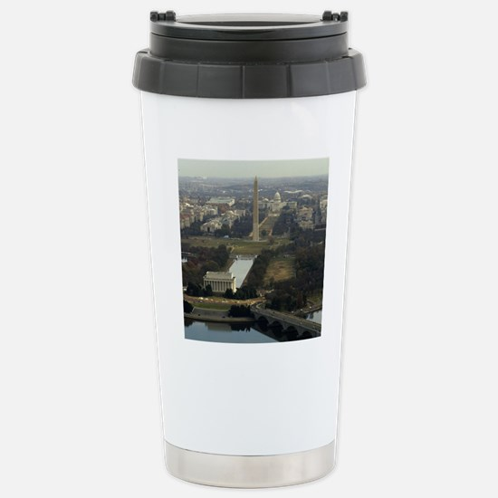 Washington DC Aerial Ph Stainless Steel Travel Mug