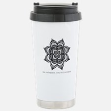 Black Flower Travel Mug