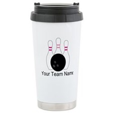 Bowling Team Personalized Travel Mug