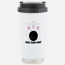 Bowling Team Personalized Travel Mug