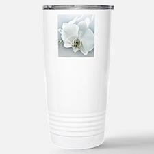 White Orchid Flower Travel Mug