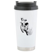 Dirtbike Wheeling In Travel Coffee Mug