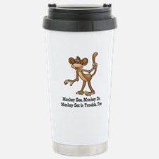 Cool Monkey humor Travel Mug