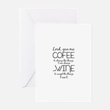 Lord, give me coffee Greeting Cards (Pk of 20)