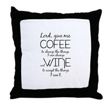 Lord, give me coffee Throw Pillow