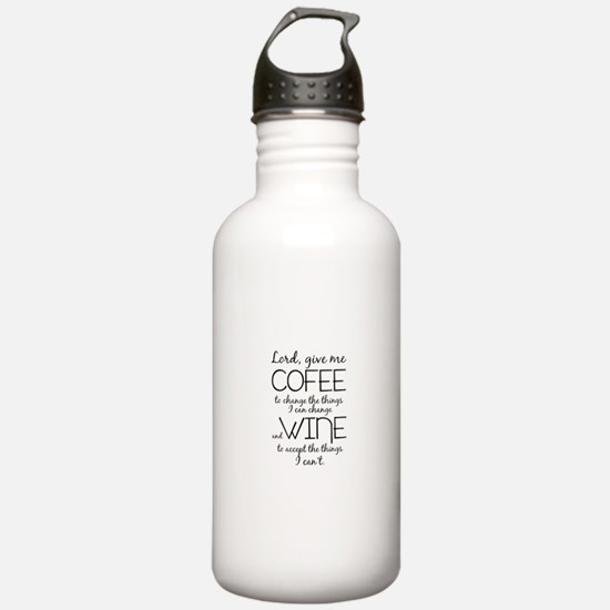 Lord, give me coffee Water Bottle