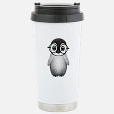 Cute Baby Penguin Wearing Glasses Travel Mug