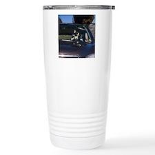 Funny Corgi Driving Travel Mug