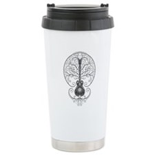 Gray Guitar Tree of Life Travel Mug