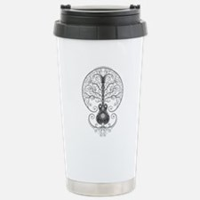Gray Guitar Tree of Life Travel Mug