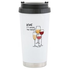 Wine Its cheaper than therapy Travel Mug