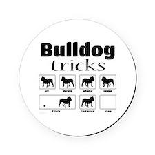 Bulldog Tricks Cork Coaster