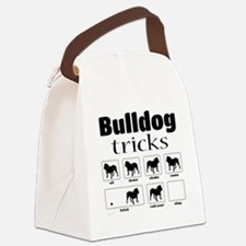 Bulldog Tricks Canvas Lunch Bag