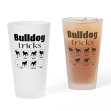 Bulldog Tricks Drinking Glass