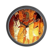 Wall painting. Egyptian. Tutankhamun an Wall Clock