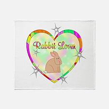 Rabbit Lover Throw Blanket