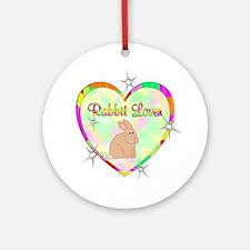 Rabbit Lover Ornament (Round)