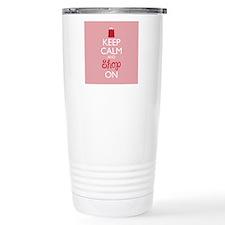 Keep Calm and Shop On Travel Mug