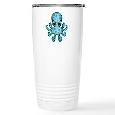 Cute Blue Baby Octopus Travel Mug