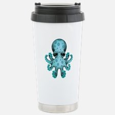 Cute Blue Baby Octopus Travel Mug