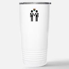 Silhouette Groom and Gr Travel Mug
