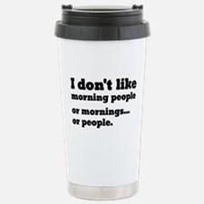 I Don't Like Morning Pe Travel Mug