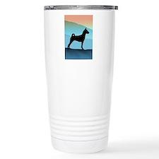 Blue Mountains Basenji Travel Mug